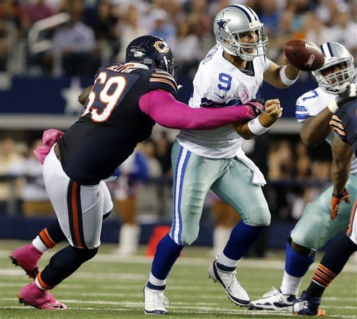 Old Bears defense picks off 34-18 win over Cowboys