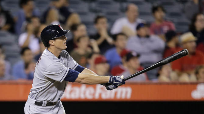 Stubbs' HR powers Indians past Angels 4-1 in 14th