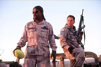 Ice Cube and Mark Wahlberg in Warner Brothers' Three Kings