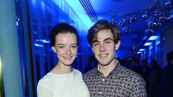 Actress Dakota Blue Richards and friend seen at The Premiere of Intel & W Hotels' Four Stories on Tuesday, Nov. 27, 2012, W Hotel, London. (Photo by Jon Furniss/Invision for Intel/AP Images)