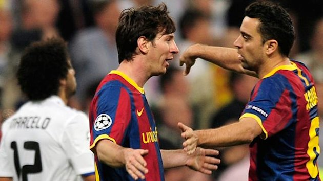Messi Xavi - Real Madrid-Barcelona (Champions League 2010-2011)