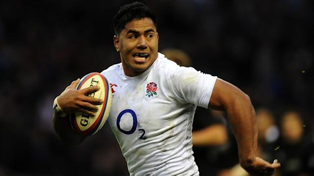 England's Manu Tuilagi on his way to scoring a try