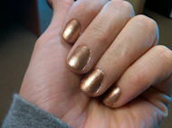 gold nail polish