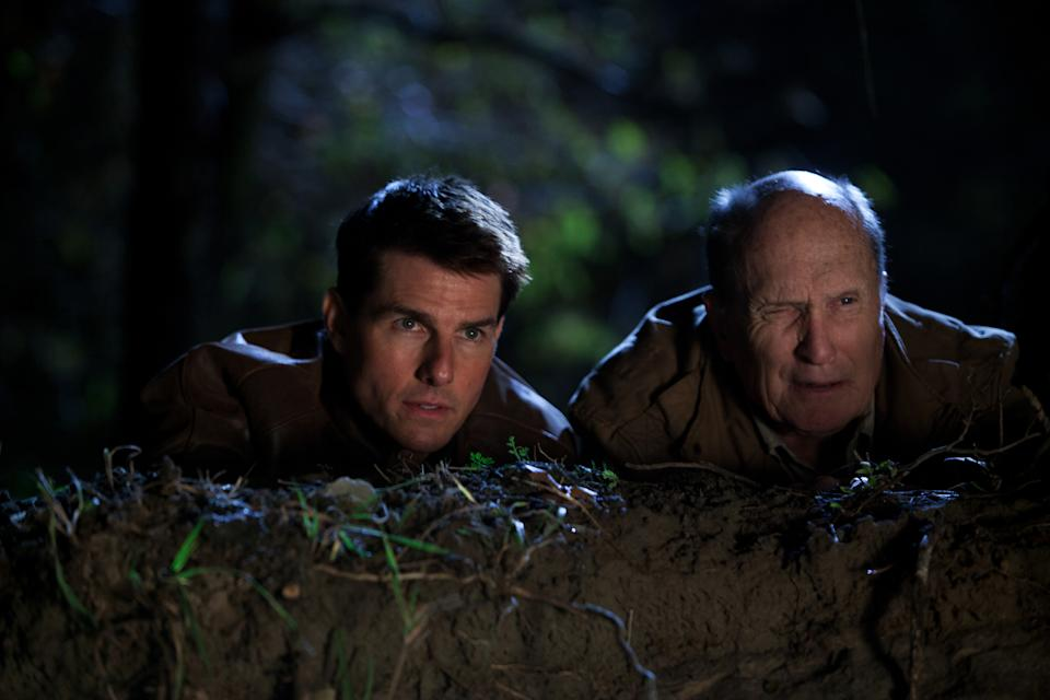 "This undated publicity photo released by Paramount Pictures shows, from left, Tom Cruise as Reacher and Robert Duvall as Cash in the film, ""Jack Reacher."" (AP Photo/Paramount Pictures, Karen Ballard)"