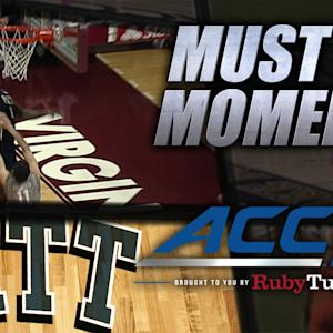 Pitt's Jamel Artis Goes Baseline for Hammer Dunk | ACC Must See Moment