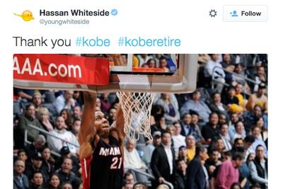 Hassan Whiteside's tribute to Kobe Bryant is really just a tribute to Hassan Whiteside