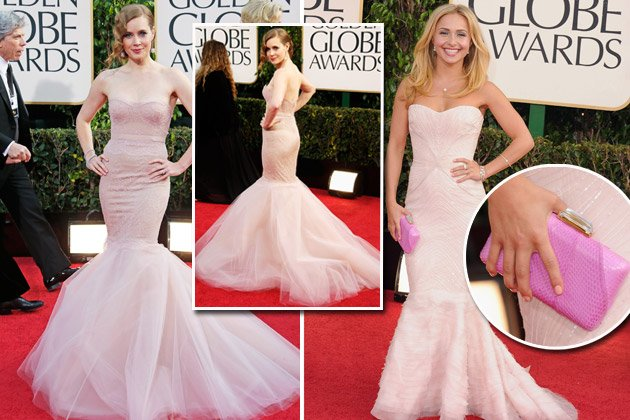 Amy Adams (l., M.) und Hayden Panettiere bezauberten in Nude (Bilder: Getty Images)