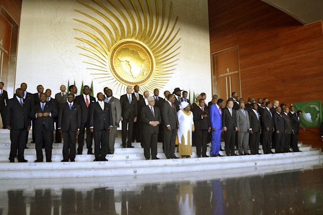 Heads of the African States pose for a group picture in Addis Ababa, Ethiopia, Sunday, Jan, 27, 2013, during the African Union Conference. African leaders met in the Ethiopian capital Sunday for talks dominated by the conflict in Mali as well as lingering territorial issues between the two Sudans. The African Union says it will deploy a force in Mali, where French troops are helping the Malian army to push back Islamist extremists whose rebellion threatens to divide the West African nation. [AP Photo)