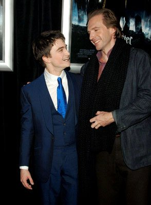 Daniel Radcliffe and Ralph Fiennes at the NY premiere of Warner Bros. Pictures' Harry Potter and the Goblet of Fire