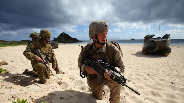Krogh participates in an assault exercise at Marine Corps Base Hawaii