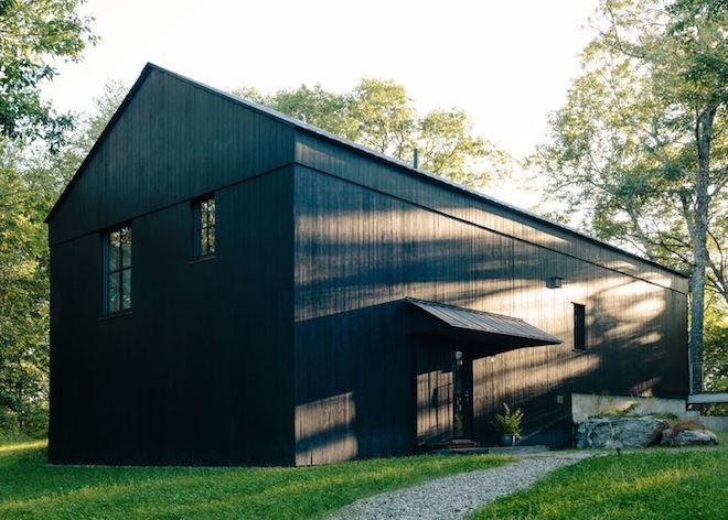 Solar-Powered Rural Retreat Has Two Barns and 'Sauna Tower'