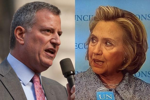 Hillary Clinton's Biggest Challenge Might Come From NYC Mayor Bill de Blasio