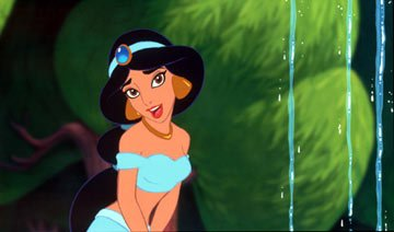 Princess Jasmine ( Linda Larkin , speaking voice; Lee Salonga , singing voice) from Walt Disney's Aladdin