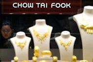A worker is pictured inside a Chow Tai Fook Jewellery store in Hong Kong in November 2011. Hong Kong-based Chow Tai Fook said Wednesday its share sale was oversubscribed, after raising a lower-than-expected $2 billion from the initial public offering amid volatile global markets