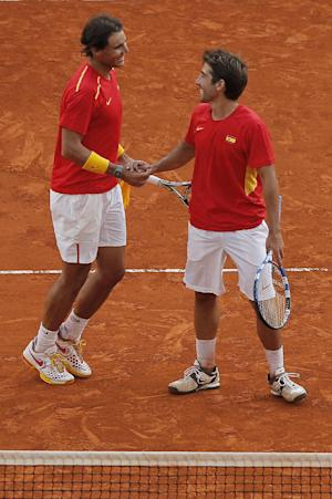 Nadal helps Spain win Davis Cup playoff