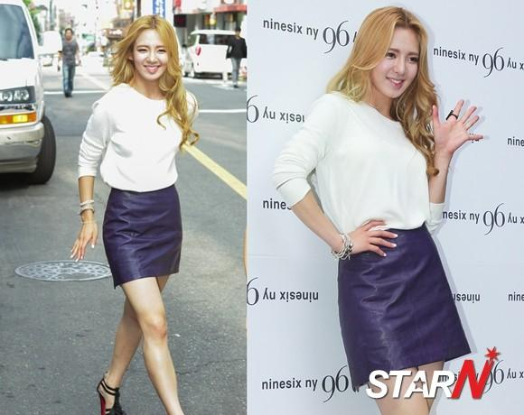 HyoYeon struggles because of big skirt size