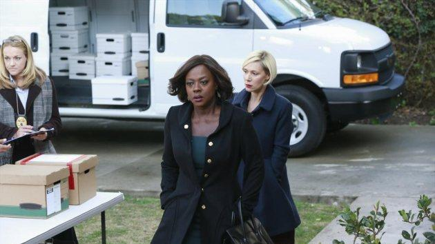 Viola Davis and Liza Weil in a scene from the 'Hello Raskolnikov' episode of 'How To Get Away With Murder' -- Getty Images