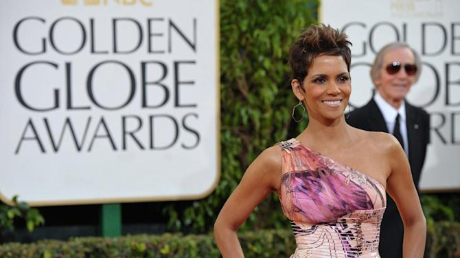 Actress Halle Berry arrives at the 70th Annual Golden Globe Awards at the Beverly Hilton Hotel on Sunday Jan. 13, 2013, in Beverly Hills, Calif. (Photo by John Shearer/Invision/AP)