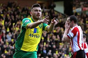 Norwich City 2-0 Sunderland: Tettey stunner eases Canaries relegation fears