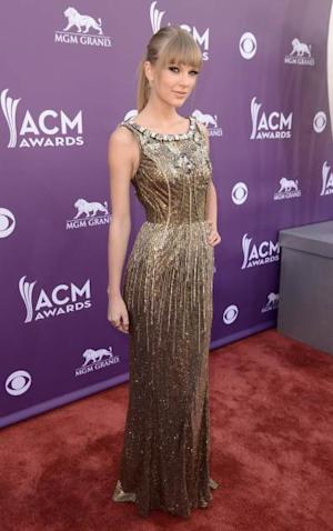 Taylor Swift attends the 48th Annual Academy of Country Music Awards at the MGM Grand Garden Arena on April 7, 2013 in Las Vegas -- Getty Premium