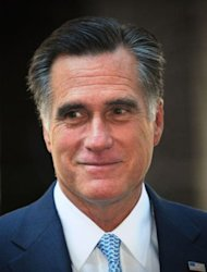 US Republican presidential candidate Mitt Romney speaks in central London on July 26. Weak consumer spending stunted US growth in the last quarter, data showed Friday, leaving the race for the White House wide open and putting discussion about more economic stimulus firmly on the Fed's agenda