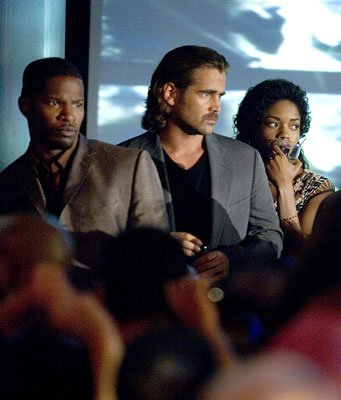 Jamie Foxx , Colin Farrell and Naomie Harris in Universal Pictures' Miami Vice