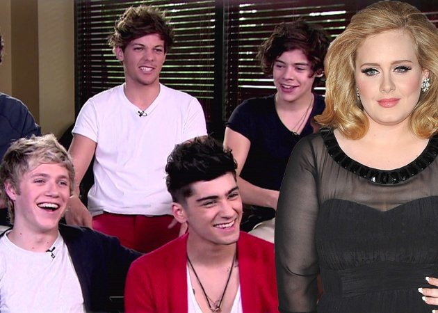 One direction and Adele
