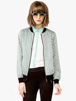 Geo bomber jacket