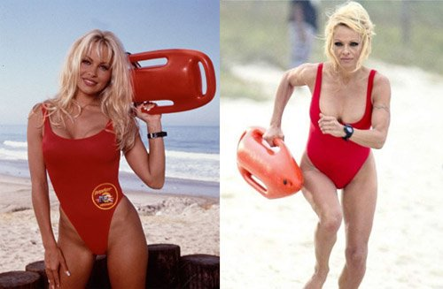 Pamela Anderson vuelve a ponerse el baador de socorrista