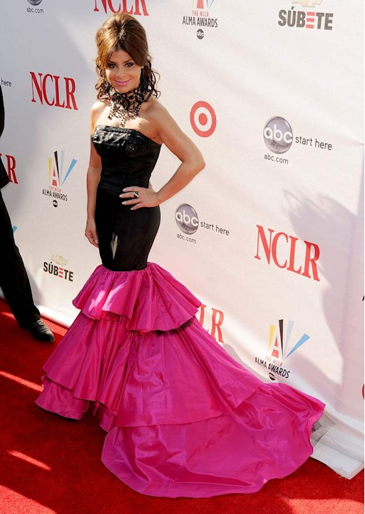 Paula Abdul arrives at The 2008 ALMA Awards at the Pasadena Civic Auditorium on August 17, 2008 in Pasadena, California.