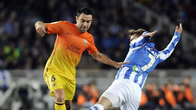 2013 barcelona real sociedad xavi