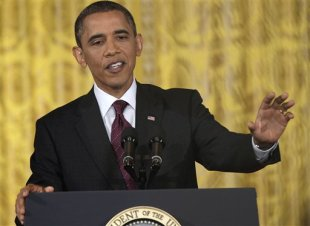 Obama brushed off question about whether the debt limit is constitutional at Wednesday press conference