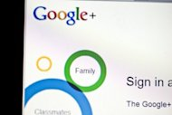 The sign-in page of social networking site Google+ is seen in Washington, DC. Google on Wednesday began letting members of its online social network get search page reminders about the birthdays of friends