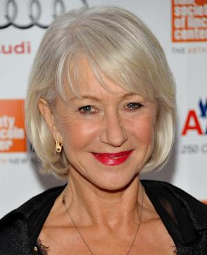 British actress Dame Helen Mirren arrives at the  premiere of 'The Tempest' at Alice Tully Hall during the New York Film Festival on Saturday, Oct. 2, 2010 in New York. (AP Photo/Evan Agostini)