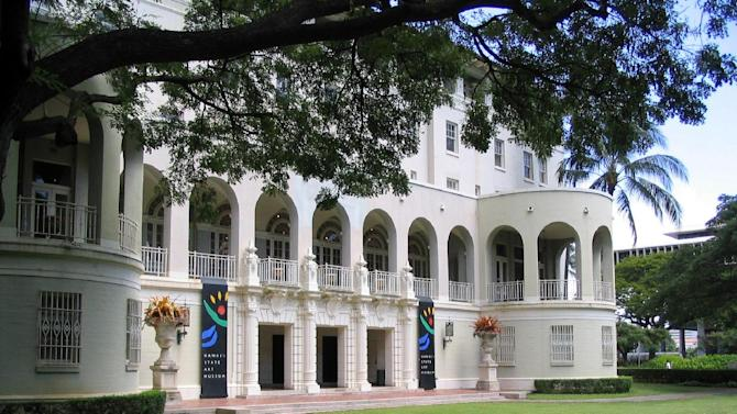 This 2004 photo released by the Hawaii State Art Museum shows the exterior of the No. 1 Capitol District Building in Honolulu, which houses the Hawaii State Art Museum on the second floor. The museum, located in historic downtown Honolulu, is one of a number of free things to do in Hawaii's capital. (AP Photo/Hawaii State Art Museum)