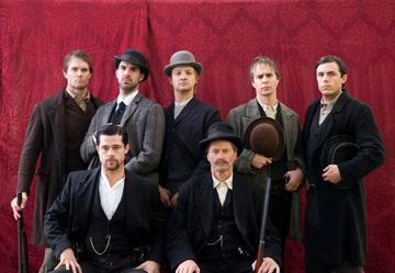 Garret Dillahunt , Brad Pitt , Paul Schneider , Jeremy Renner , Sam Shepard , Sam Rockwell and Casey Affleck in Warner Bros. Pictures' The Assassination of Jesse James by the Coward Robert Ford
