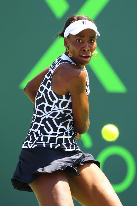 Venus Williams Of The USA In Action Against Agnieszka Radwanska Of Poland Getty Images
