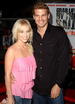 Premiere: Jaime Bergman and David Boreanaz at the Los Angeles premiere of 20th Century Fox's Dodgeball: A True Underdog Story - 6/14/2004