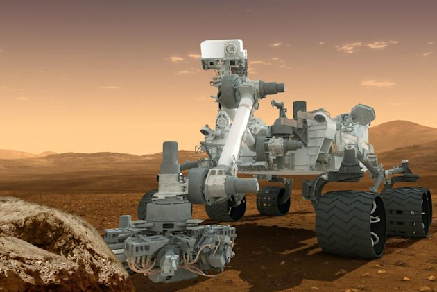 This artist&#39;s rendering provided by NASA shows the Curiosity rover on the surface of Mars. NASA announced Tuesday, Dec. 4, 2012, it plans to send another Curiosity-like rover to Mars in 2020. (AP Photo/NASA)