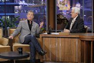 Mel Gibson chats with Jay Leno on 'The Tonight Show With Jay Leno' in Los Angeles on April 27, 2012 -- Getty Premium