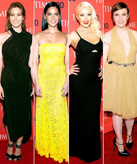 Jessica Biel, Olivia Munn: Who Was Best-Dressed at the Time 100 Gala?