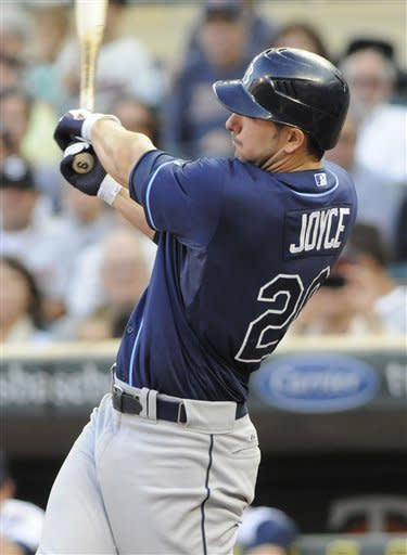 Joyce has 4 RBIs for Rays in 12-6 win over Twins