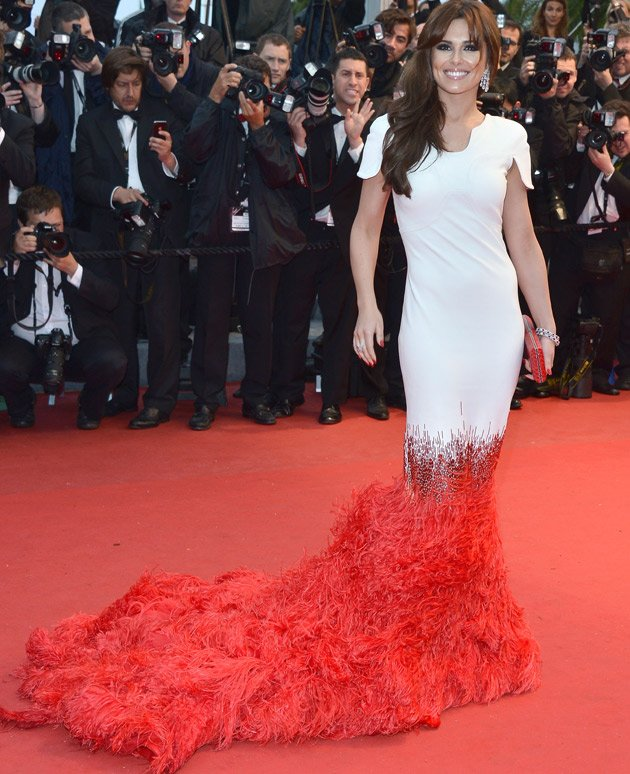 Cheryl Cole Cannes red carpet