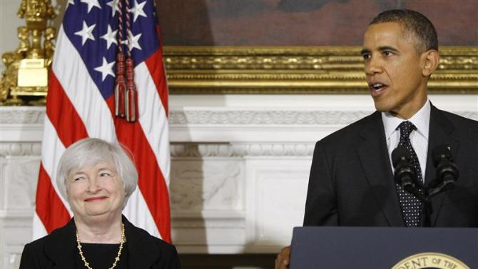 Obama nominates Janet Yellen to head the Federal Reserve in Washington