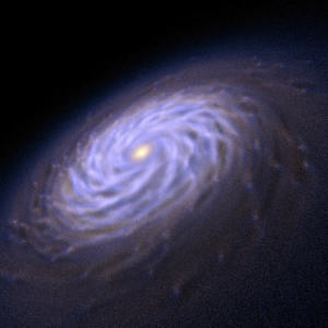 Supercomputers Reveal How Spiral Galaxy Arms Grow