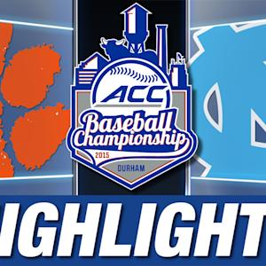 Clemson vs North Carolina | 2015 ACC Baseball Championship Highlights