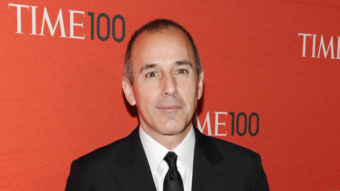 """FILE - This April 24, 2012 file photo shows NBC """"Today"""" show co-host Matt Lauer attending the TIME 100 gala, celebrating the 100 most influential people in the world, at the Frederick P. Rose Hall in New York. The """"Today"""" show's top producer is speaking out against stories portraying anchor Matt Lauer as being difficult to work with during the show's slide in the ratings.  Executive Producer Jim Bell said Wednesday that Lauer is the heart and soul of NBC's morning news show and that negative stories about him have been hard to deal with. """"Today"""" has slipped behind ABC's """"Good Morning America"""" in the ratings recently, particularly since Lauer's former co-host, Ann Curry, was replaced by Savannah Guthrie. That's led to a wave of bad publicity, much of it focused on Lauer. (AP Photo/Evan Agostini, file)"""