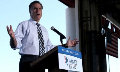 Mitt Romney speaks in Tampa, Fla.: Romney is airing new radio ads claiming President Obama's auto bailout sent jobs overseas to China.