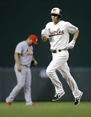 Orioles hit 6 HRs in 12-2 rout of Cardinals