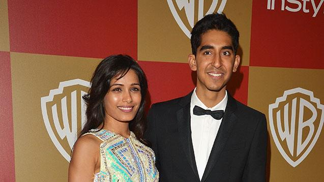 InStyle And Warner Bros. Golden Globe Party - Arrivals: Freida Pinto and Dev Patel